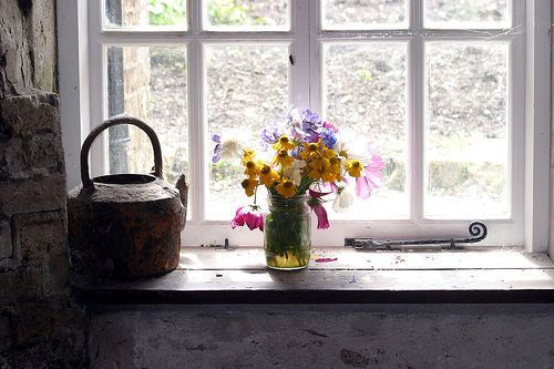 a posy by the window