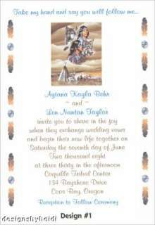 Native American Wedding Invitations Supplies Favors Wedding
