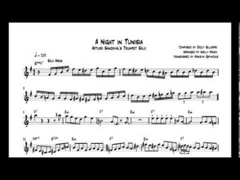 Arturo Sandoval jazz trumpet solo - Marianela - how to play it - Bb