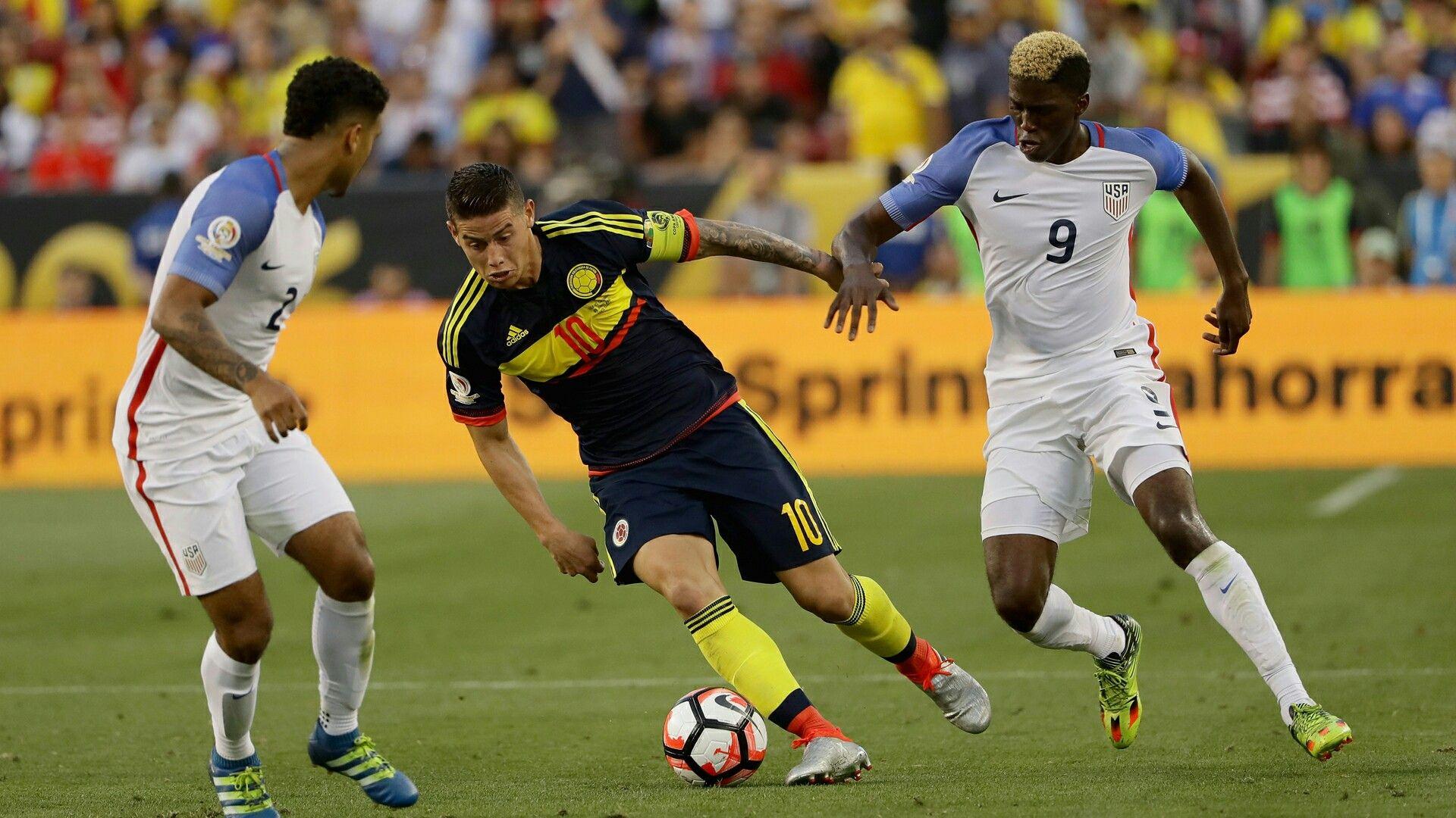 USA 0 Colombia 2 in 2016 in Santa Clara. James Rodriguez