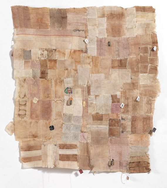 Stitch and Tickle: Teabag Panel included in A Community of Artists show at the Danforth Museum