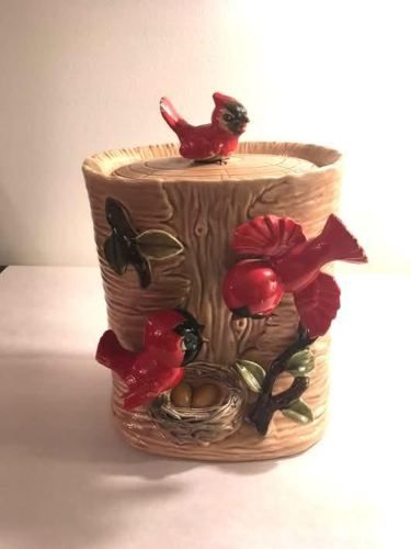 1950'S Cookie Jars Awesome Vintage 60's RED BIRD COOKIE JAR Made In Japan Pinterest Bird