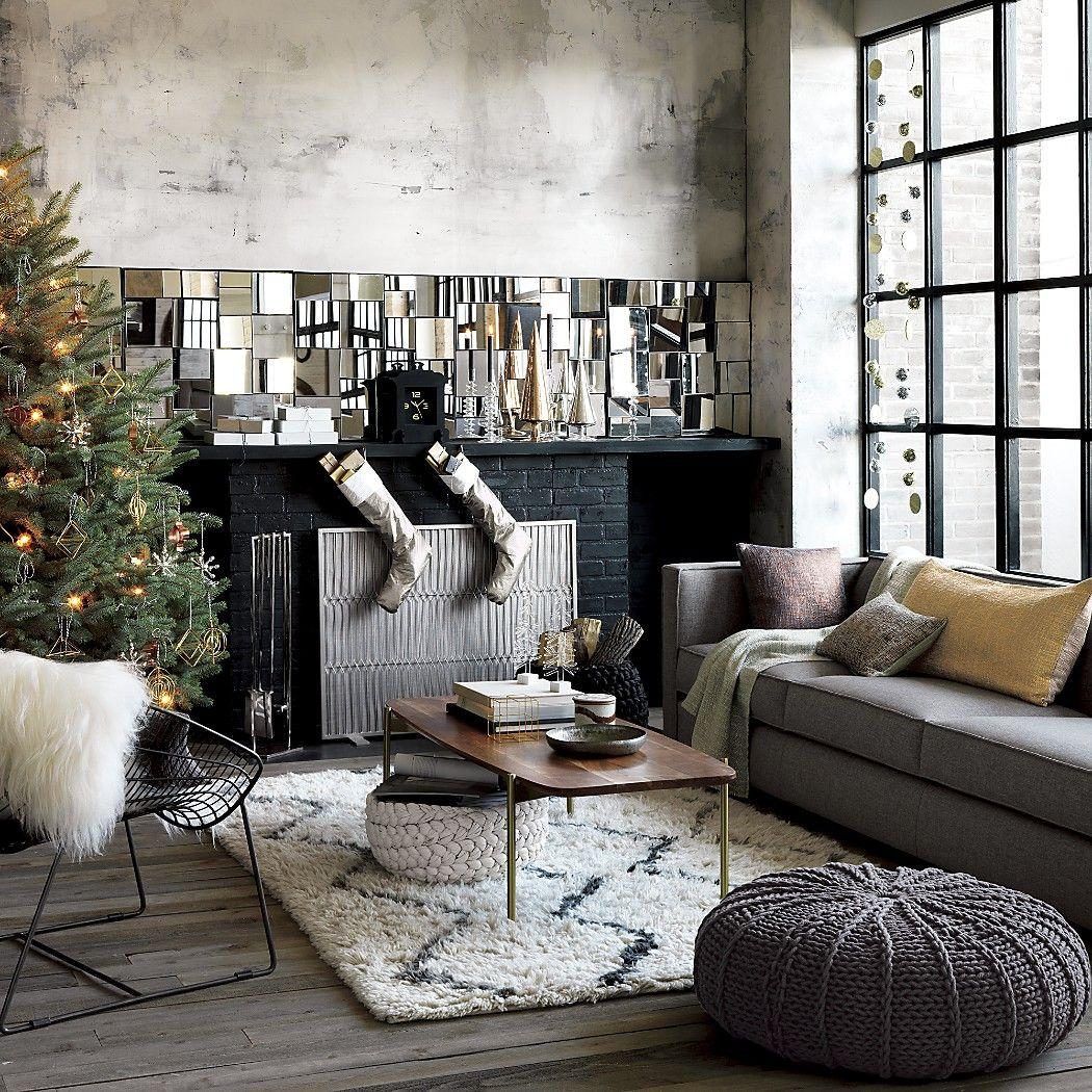 Check Yourself Out With Modern Decorative Mirrors From Cb2 Online For Round Christmas Decorchristmas