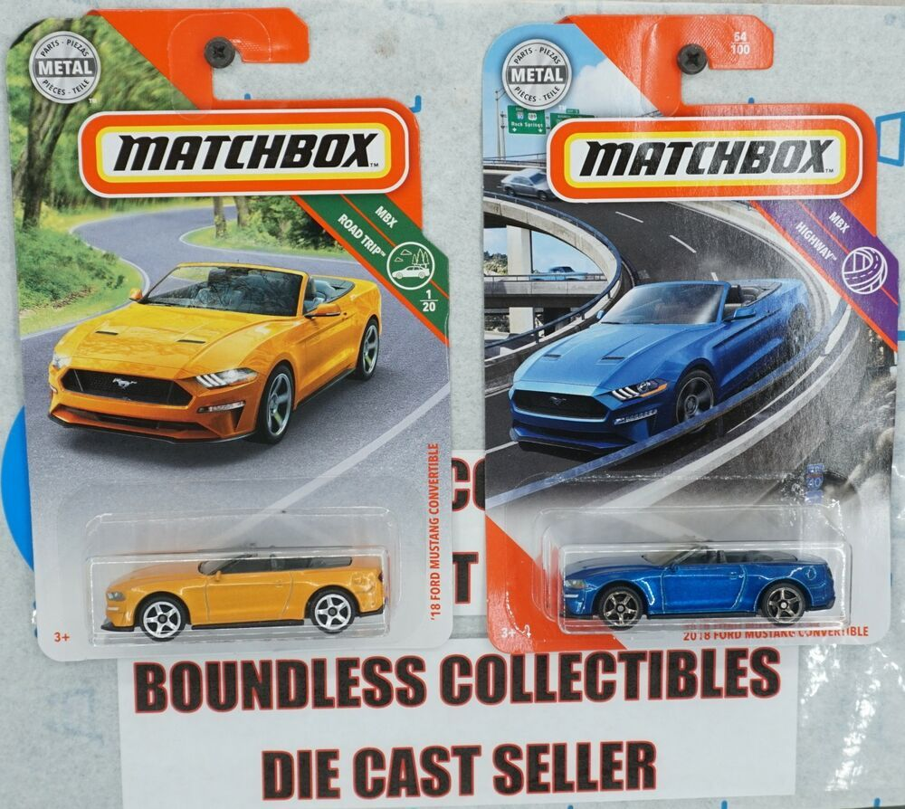 2020 Matchbox  Blue  2018 FORD MUSTANG CONVERTIBLE    Card #54    MB5-070320
