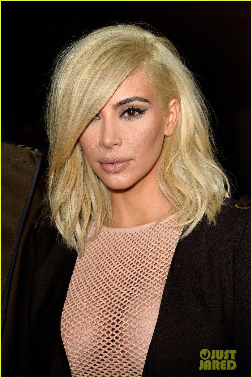 Kim kardashian u jared letous platinum blonde hair get all the