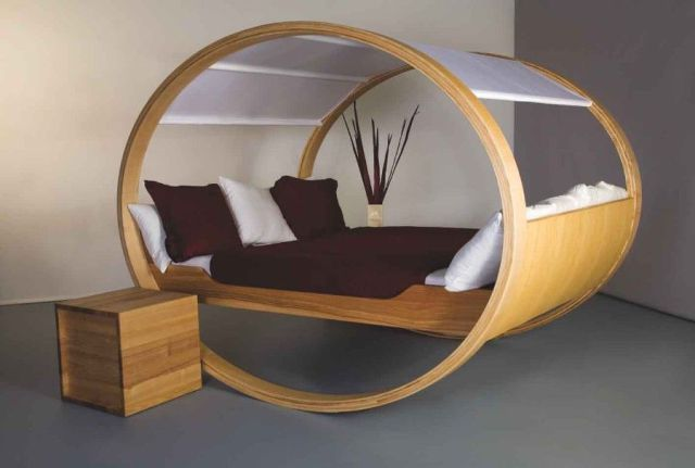 New mom's could find a use for this rocking bed when baby wakes up at night.