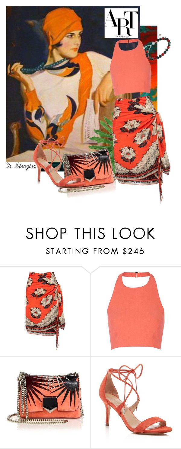 """""""Tropical"""" by deborah-strozier ❤ liked on Polyvore featuring Elizabeth and James, Jimmy Choo, Pour La Victoire and Gucci"""