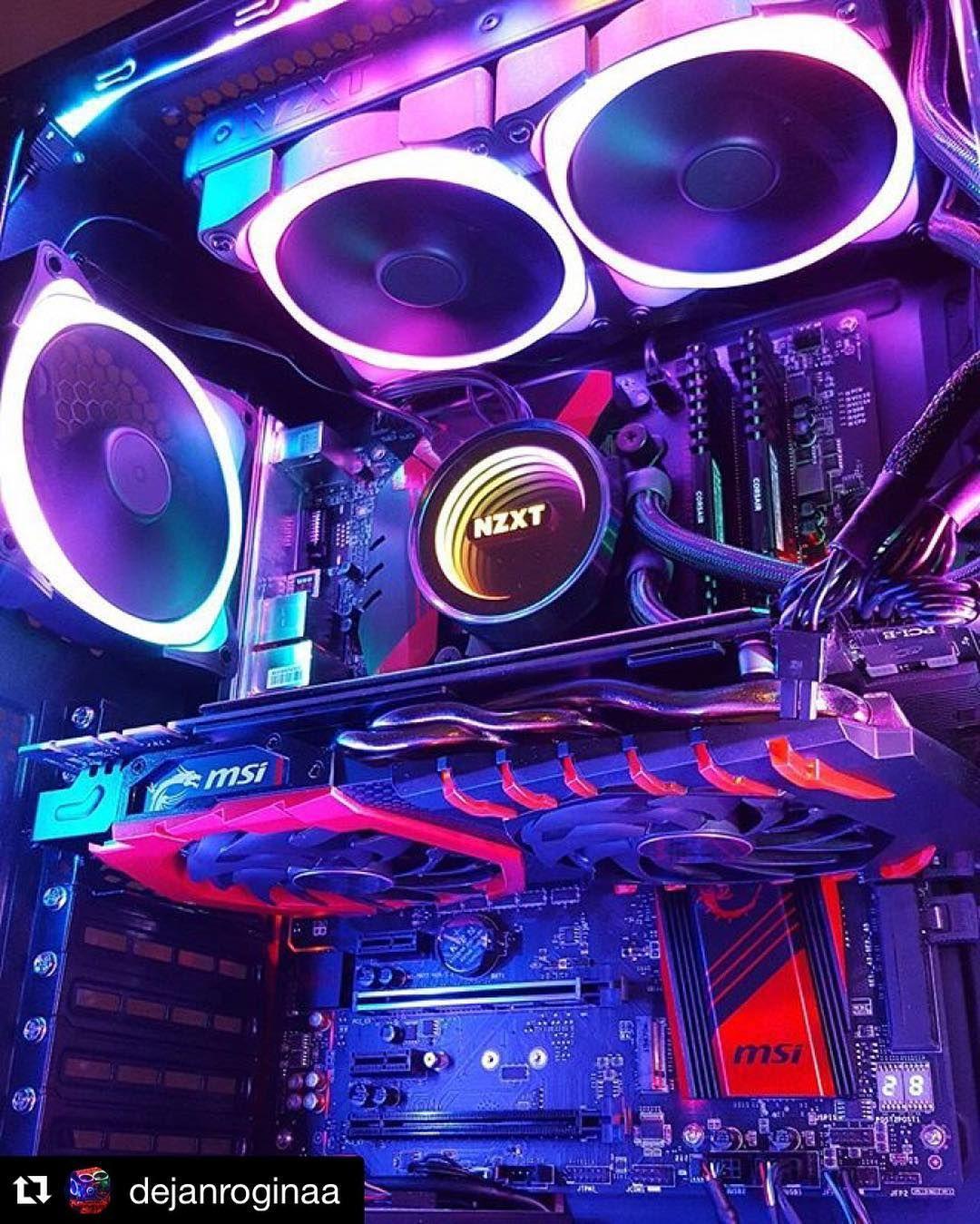 #NZXT Aer #RGB fans and Kraken CPU liquid cooler looking ...