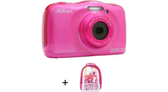 Appareil Photo Compact Nikon Coolpix W100 Rose Sac à Dos