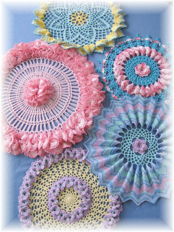 Ripples Ruffles and Roses Doilies PDF Crochet by BellaCrochet, $8.95 ...