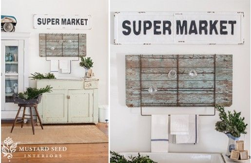 Made With Touches Of Rustic Shabbiness This Super Market