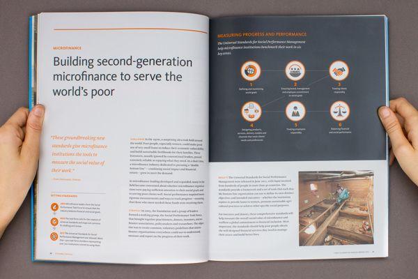 Ford Foundation Annual Report by Jason Lynch, via Behance