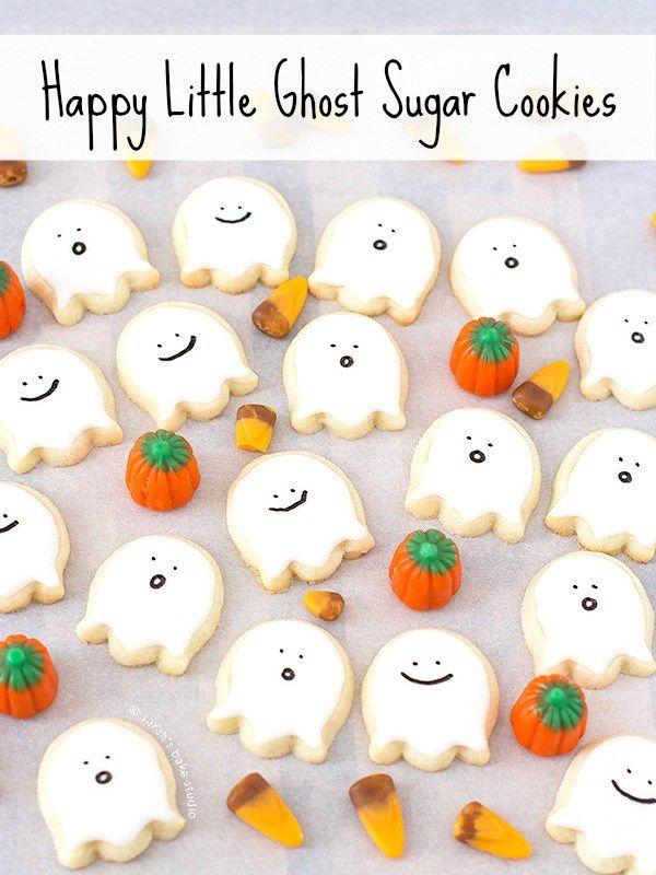 Happy Little Ghost Sugar Cookies Video Tutorial Halloween