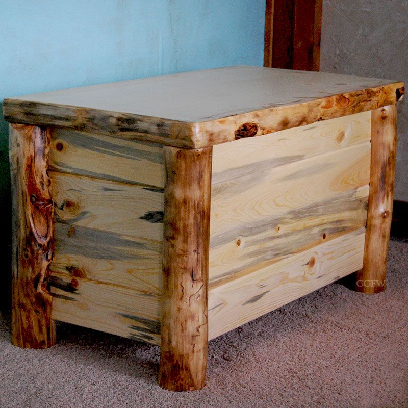 Image Detail For  Silver Creek Cedar Lined Rustic Aspen Log Storage Chest  By Timber .