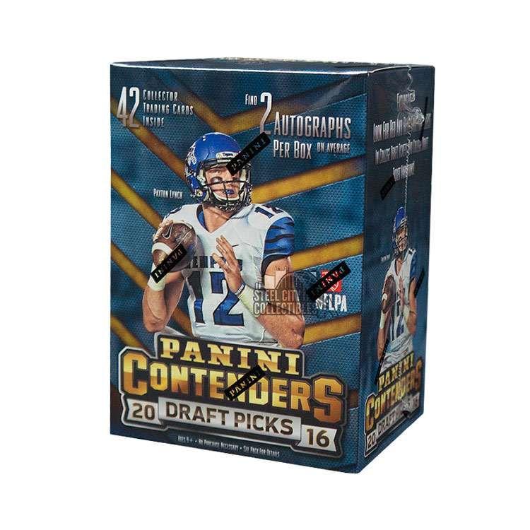 2016 panini contenders draft football blaster box steel