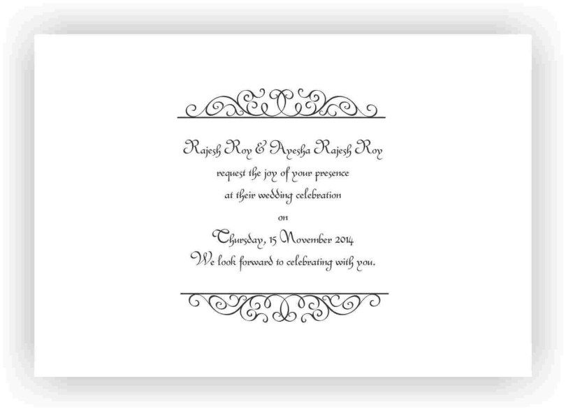 Wedding Invitation Wording Box Wedding Invitations Wedding Invitation Message