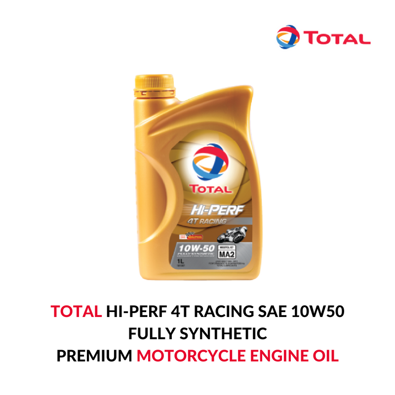 Total Hi Perf 4t Racing Sae 10w50 Is A Premium Fully Synthetic 4