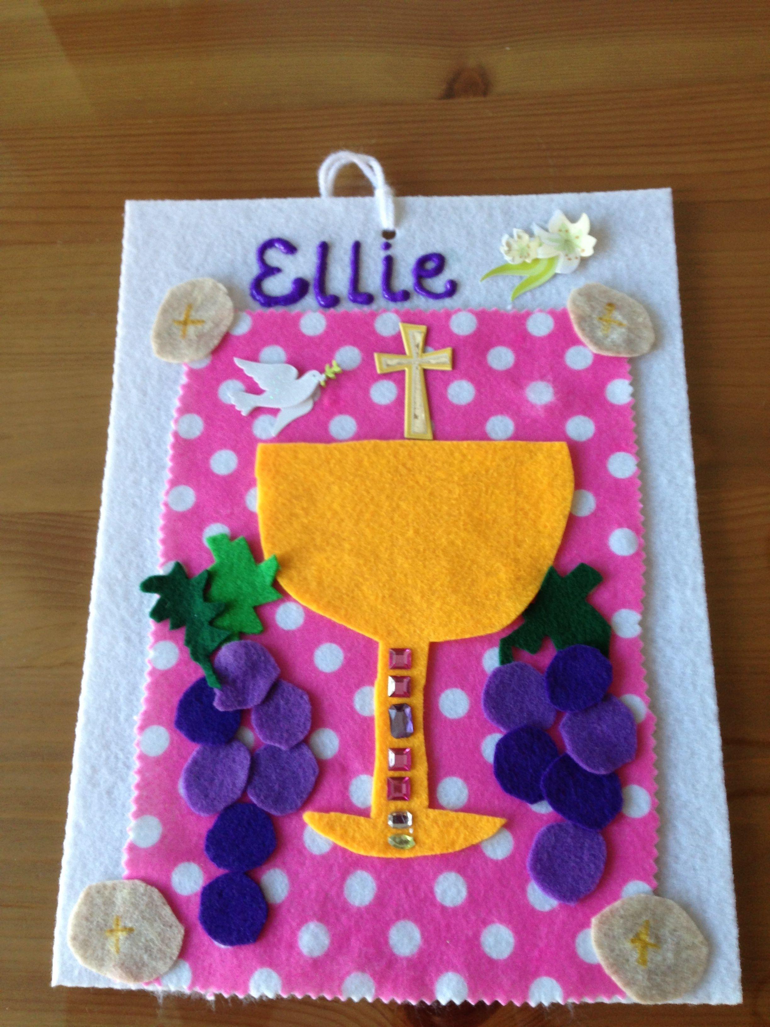 Ellie 39 s design first communion banner first communion for First communion craft ideas