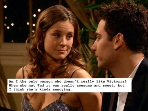 How I Met Your Mother Confessions | I love Victoria, but I'm not a massive fun of her relationship with Ted