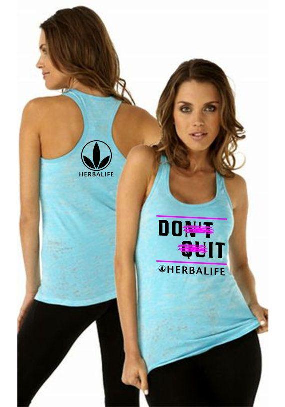 Herbalife Women S Apparel Burnout Racerback Tank Top Don T Quit Do It Motivational Workout Clothes Herbalife Herbalife Clothing Fitness Motivation Clothes