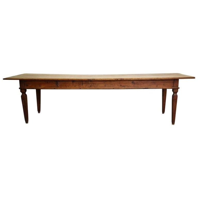 1stdibs Dining Room Table / Dining Table - 17Th-18Th Century Italian Long Three Drawers Rustic Wood