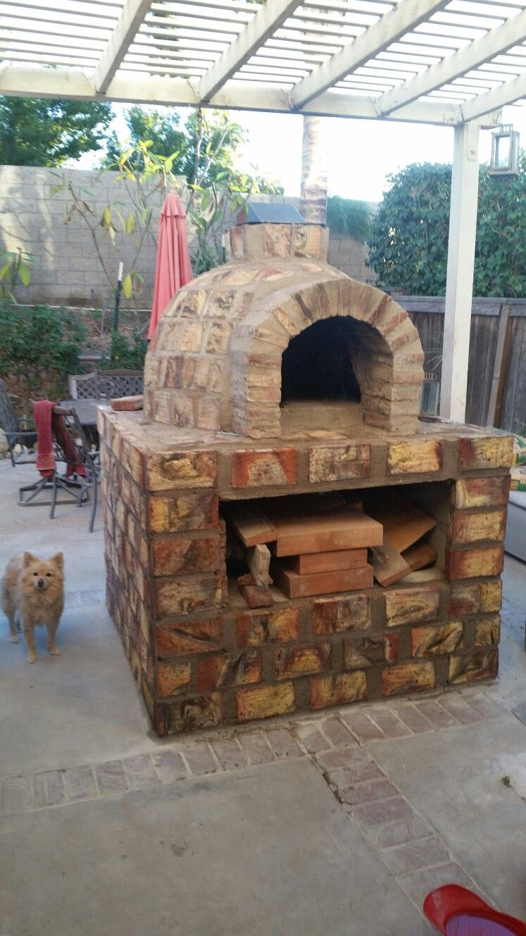 Tuscan Style Brick Oven Made From Mexican Fire Bricks Made In The