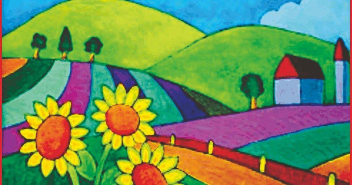 33 Lukisan Pemandangan Gunung Yang Mudah Cara Menggambar Pemandangan Alam Yang Bagus Dan Mudah Seni Download Lukisan Pemandanga Painting Lukisan Ilustrasi