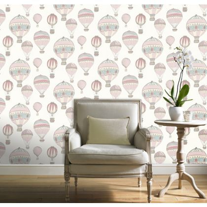 Grandeco hot air balloons wallpaper at homebase be for Wallpaper homebase