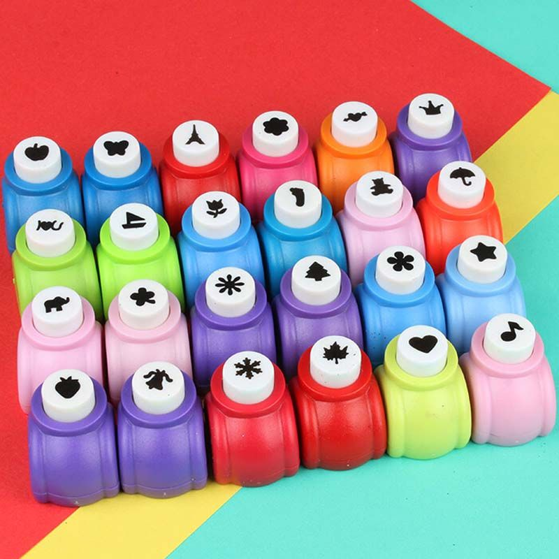 1 Pcslot Circle Flower Punch Diy Craft Hole Punch Puncher Kids
