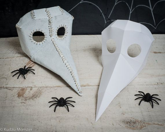 Printable Paper Plague Doctor Mask Spy Vs Spy Bird Mask Diy