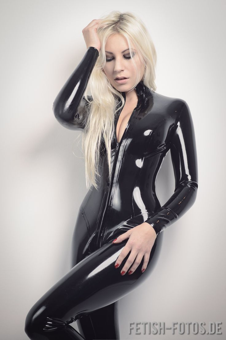catsuit Blonde latex