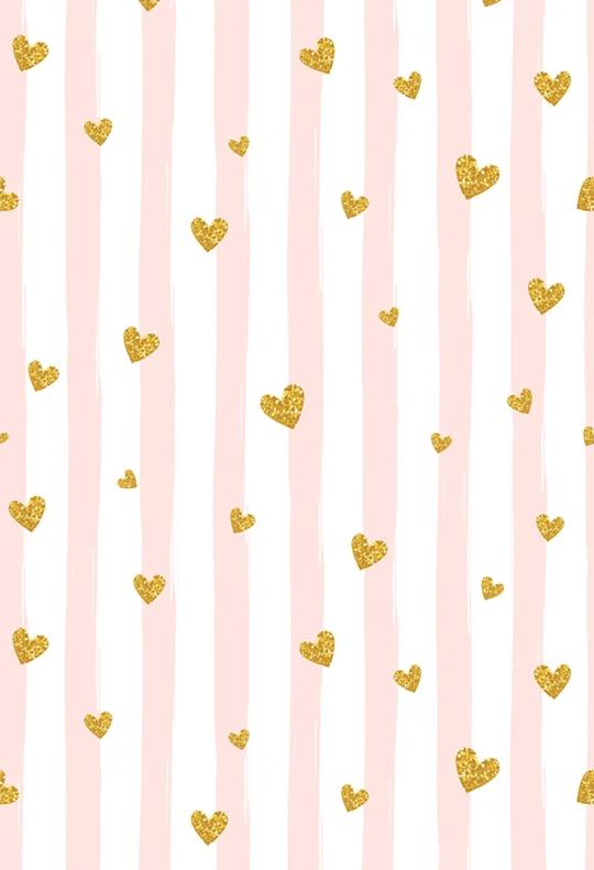 Valentine's Day Backdrop Golden Stripe Backdrop for Photo Studio  ZH-181