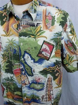01b69119 Reyn Spooner Mens Hawaiian Shirt XL Siam Singapore Bangkok China Clipper  Orient | eBay