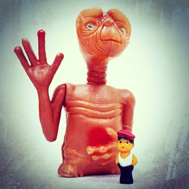 #Et #alien #boy #Mexican #polish #bootleg #plastic #rubber #friends #collection #figure