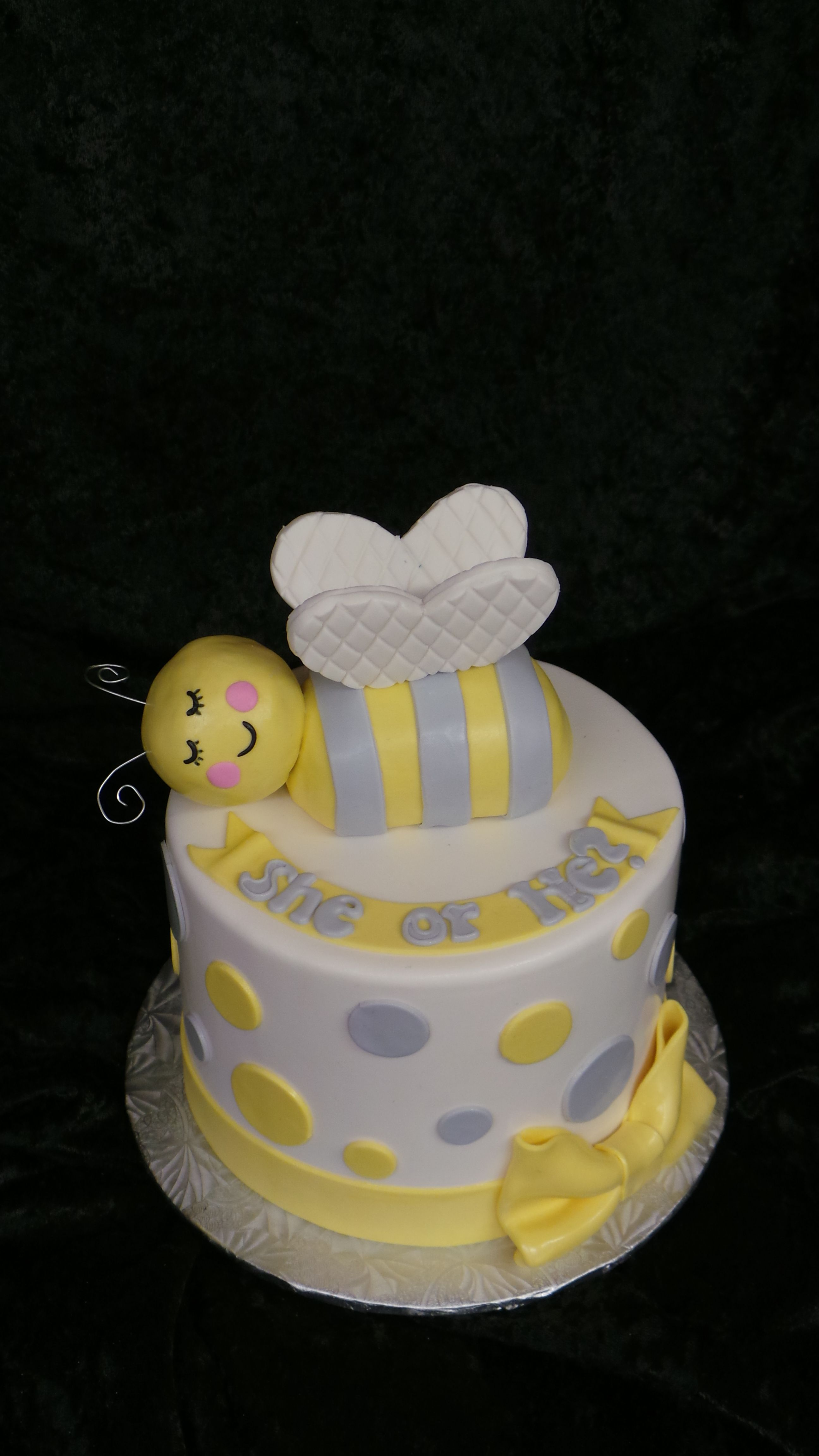 He Or She What Will It Bee Gender Reveal Cake
