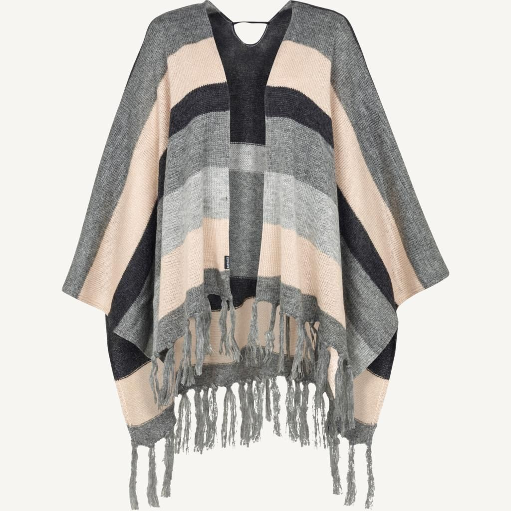The cosiest cape you'll ever own? This is it- the fabric is lovely and soft, it's a great size to wrap around your shoulders and it's so easy to wear to make every day snuggling a non-stop event!