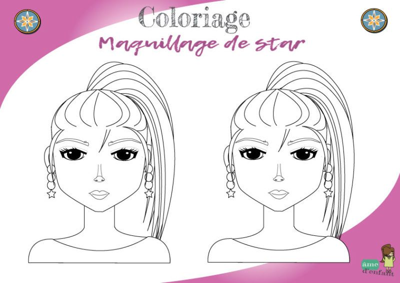 Coloriage Maquillage De Star Coloriage Gratuit Coloriage Maquillage Gratuit