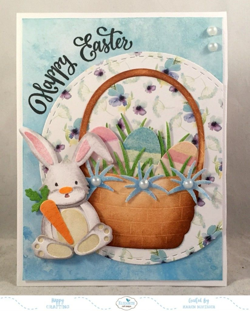1460 Elizabeth Craft Joset Designs Spring Basket Die Set