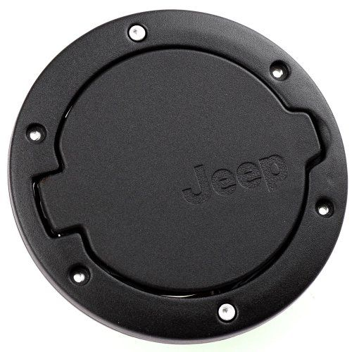 Black Stainless Steel ABS Gas Fuel Cap Door Cover Fit for Jeep Wrangler JK & Unlimited 2007-2015