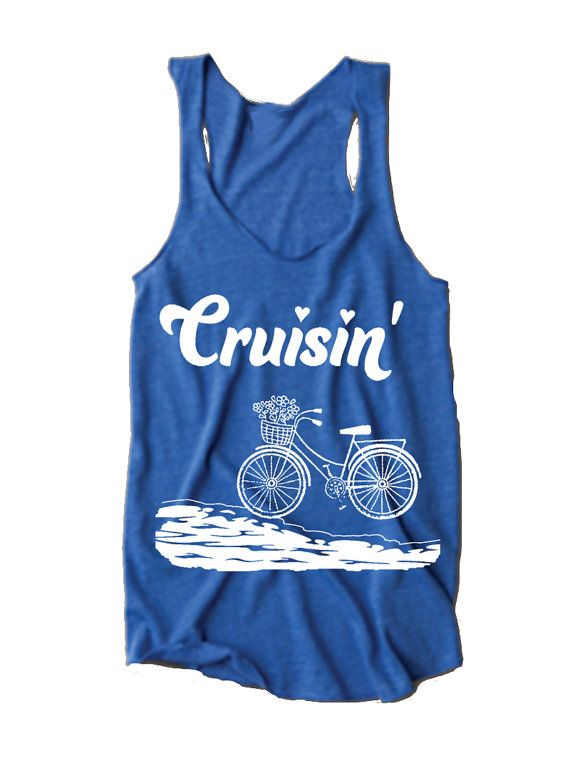 Womens BEACH CRUISIN beach cruiser bike bicycle by FreeBirdCloth, $18.00