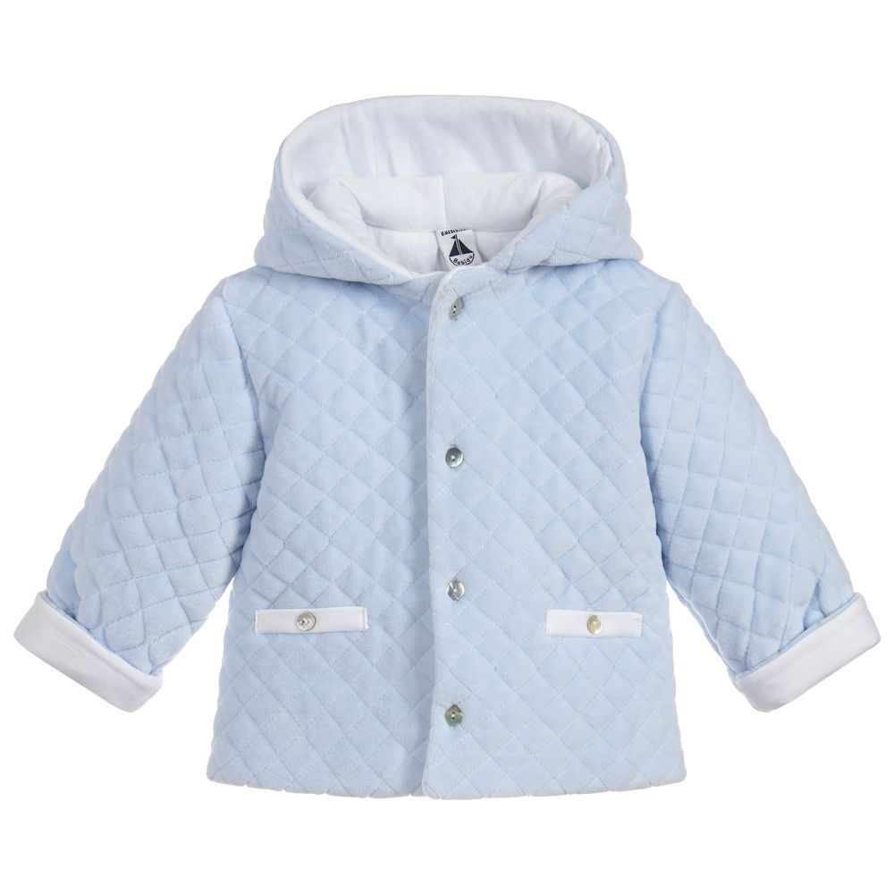 e6f2a6fc7 Babidu Blue Quilted Velour Pram Coat. Shop from an exclusive ...