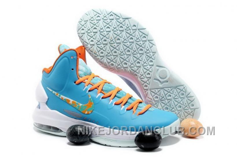 sports shoes 188e6 460a8 Nike Zoom Kevin Durant s KD V Easter Blue Orange Basketball shoes