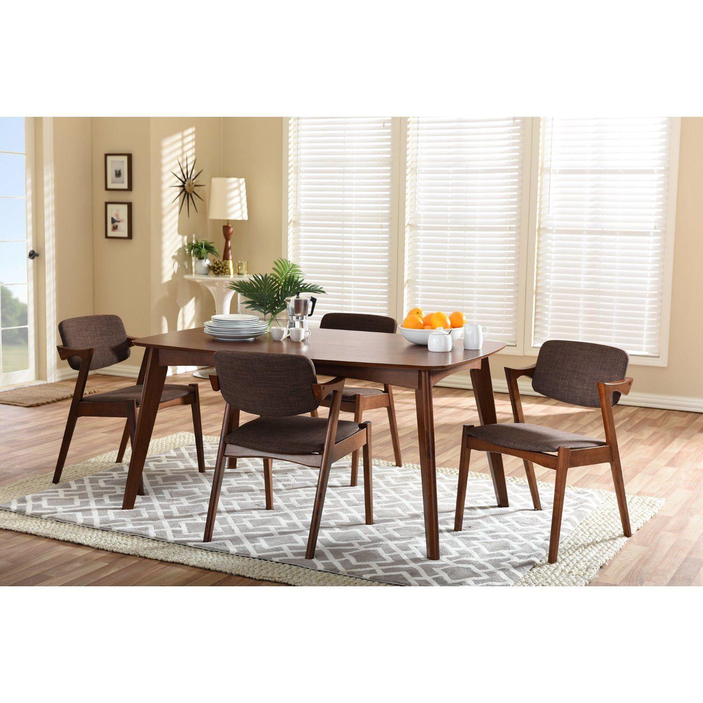 Amazoncom Baxton Studio Elegant MidCentury Upholstered Piece - Salle a manger malone pour idees de deco de cuisine