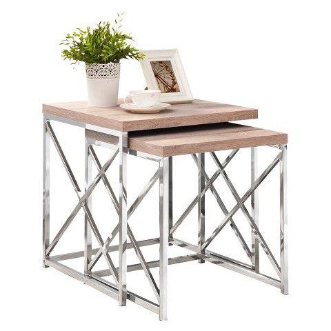 Monarch Specialties Nesting Table Set 2-Pieces  sc 1 st  Pinterest & Monarch Specialties Nesting Table Set 2-Pieces | Shop Pink51 ...