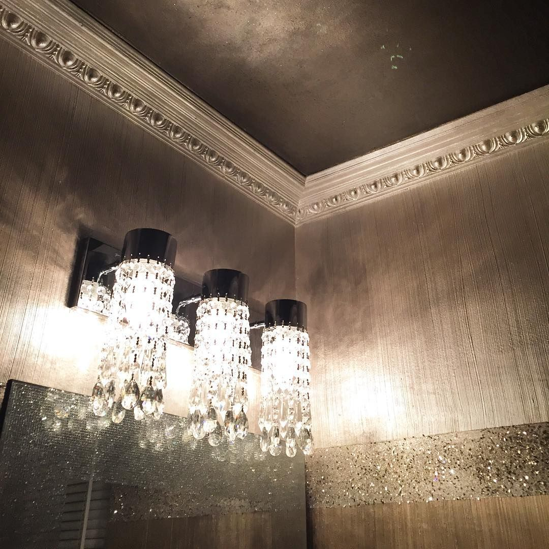 The Alternative To Ordinary Painting Bathroom Metallic Paint Walls Wall Finishes