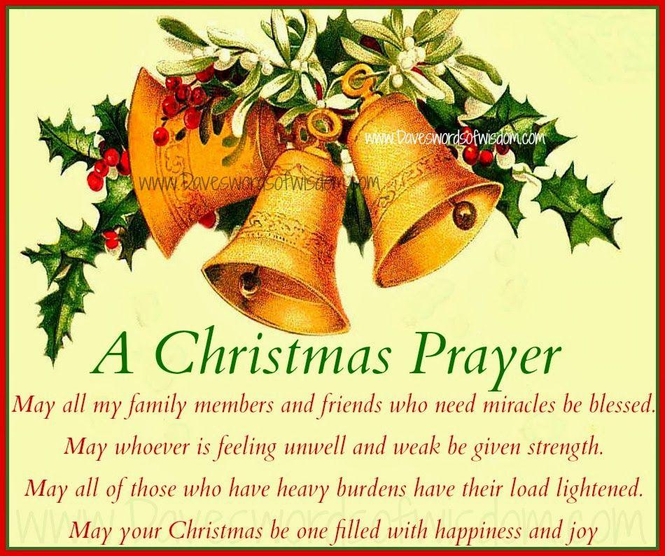 Christmas Blessing Prayer Christmas Winter Pinterest