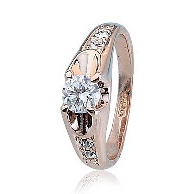 Fashionable Zircon Alloy Ring (Assorted Colors) – USD $ 8.69