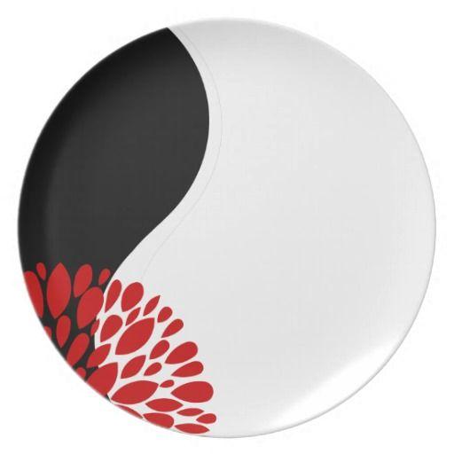 Fresh Modern red black white Yin Yang Dinner Plate  sc 1 st  Pinterest & Fresh Modern red black white Yin Yang Dinner Plate | Yin yang Red ...