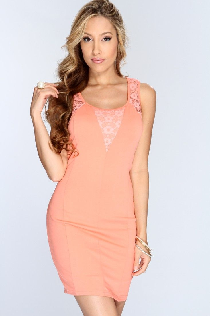 A body-hugging fit and modern design make a stunning combination in this sophisticated and sexy dress. Netted Decor add unexpected detail to make the look your own. This dress features scoop neck, sleeveless style, netted detailing, and finished off with a curve hugging fit to show off your flattering curves. 95% Polyester 5% Spandex