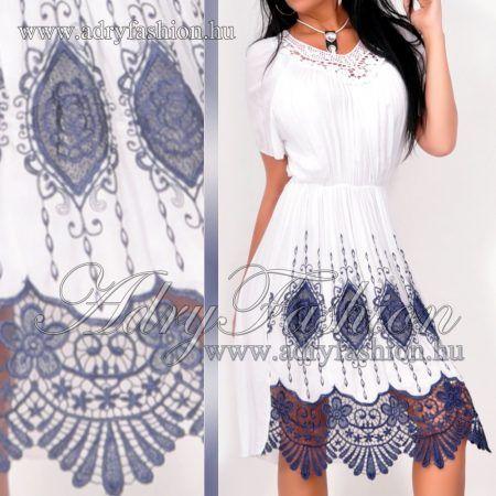 5175497c3b Olasz elegáns hímzett csipkés női ruha | www.adryfashion.hu | Italy